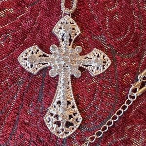 Betsey Johnson cross necklace